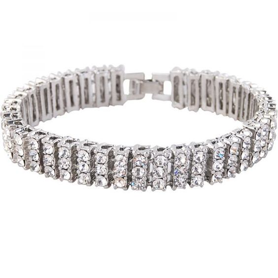 3.00Ct Baguette Cut Channel Set Tennis Bracelet with Diamonds in 18K White Gold