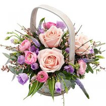 Basket Pink and Mauve