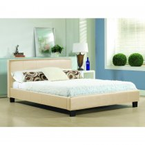 Charcoal Aspire Mento Bedframe in Chenille Fabric with Tall Head