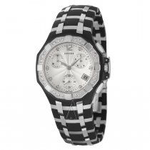 Concord Men's 'Saratoga' Black Stainless Steel Swiss Quartz Watch