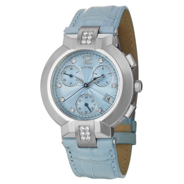 Concord Women's 'La Scala' Stainless-Steel Diamond-Accented Chronograph Watch