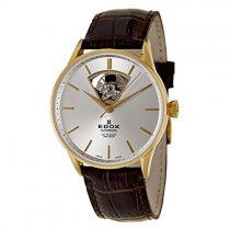 Edox Men's 'Les Vauberts Automatic' Yellow Goldtone Stainless Steel Mechanical A