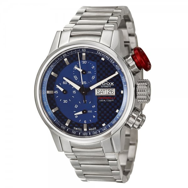 Edox Men's 'WRC' Stainless Steel Multifunction Chronograph Watch