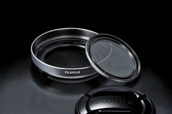 Fuji Lens Hood & Filter Kit for Finepix X30 - Silver