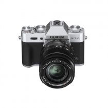Fuji X-T10 Compact System Camera + XF 18-55mm Lens - Silver