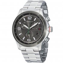 Gucci Men's YA126238 'Timeless' Grey Dial Stainless Steel Chrono