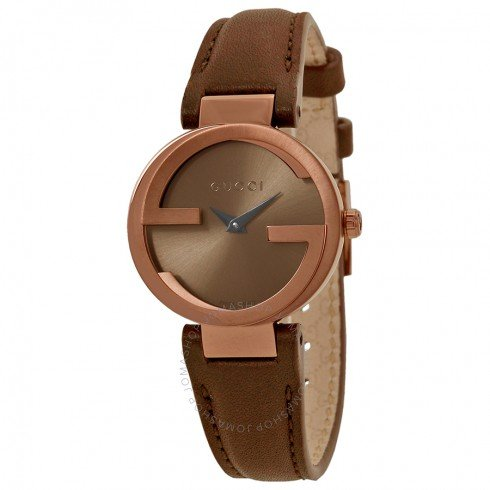 Interlocking G Small Brown Dial Ladies Watch