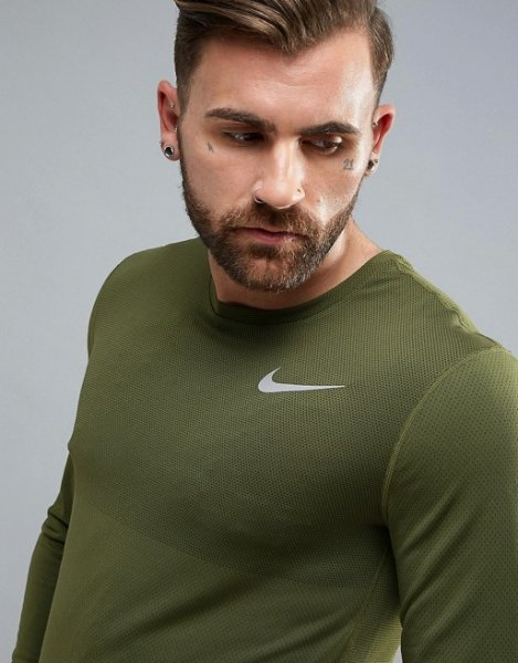 Nike Running Dri-FIT Relay Long Sleeve Top In Green