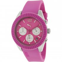 Puma Women's Motor Pink Polyurethane Analog Quartz Watch
