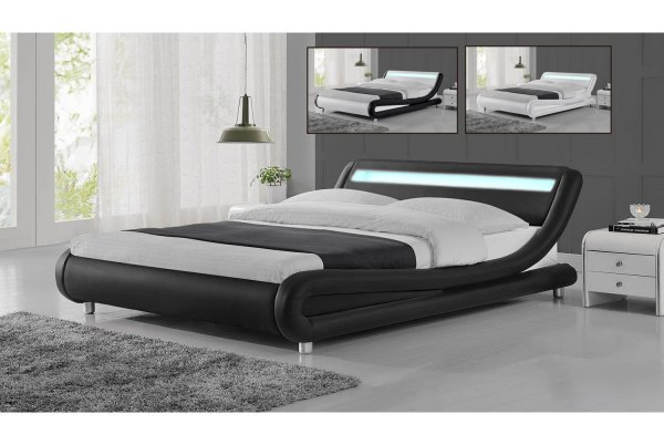 Quality Budget Faux Leather Bed GALAXY