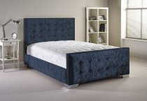 Raspberry Aspire Calverton Bedframe in Chenille Fabric with Head