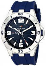 Tommy Hilfiger Men's Skywinder Stainless Steel and Leather Strap Watch